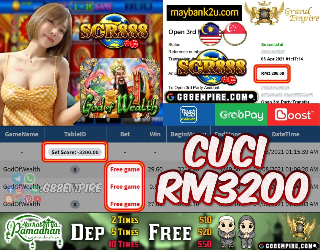SCR888 - GODOFWEALTH CUCI RM3200!!!