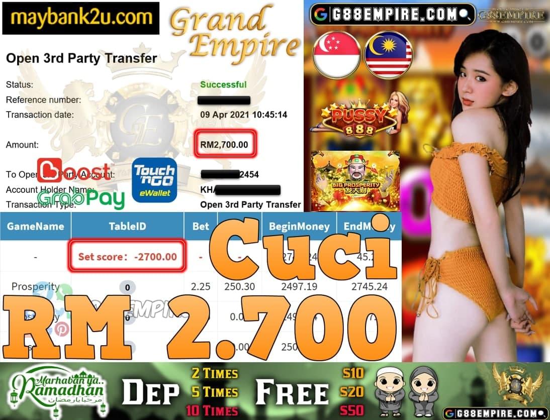 PUSSY888-PROSPERITY CUCI RM2,700!!!