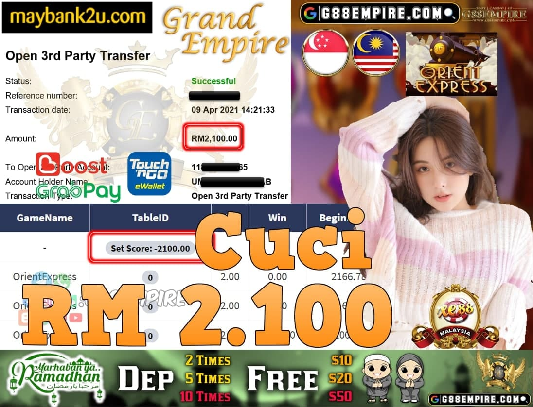 XE88-ORIENTEXPRESS CUCI RM2,100!!!