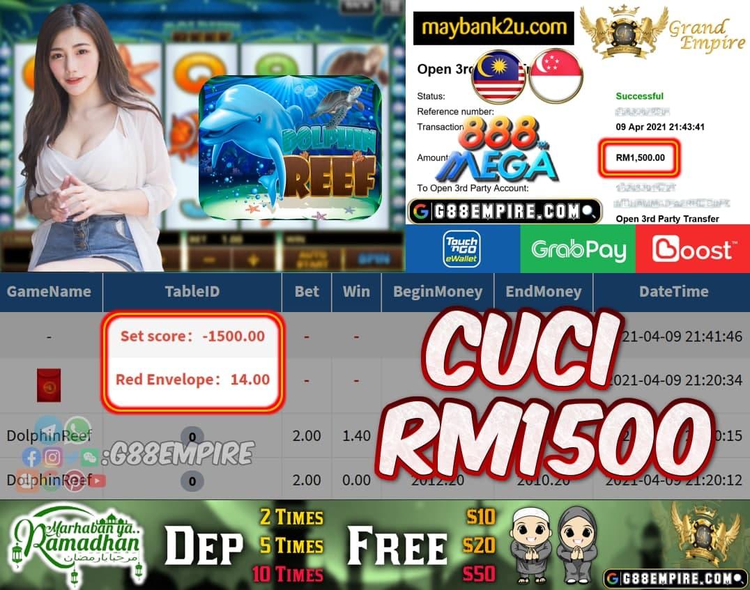 MEGA888 - DOLPHINREEF CUCI RM1500!!!
