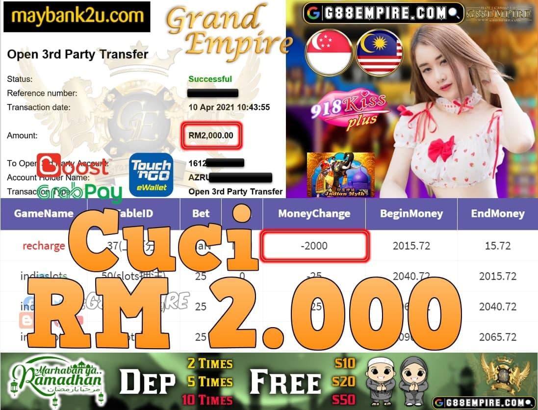 918KISSPLUS-INDIASLOTS CUCI RM2,000!!!