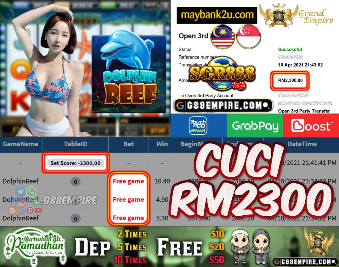 SCR888 - DOLPHINREEF CUCI RM2300 !!!