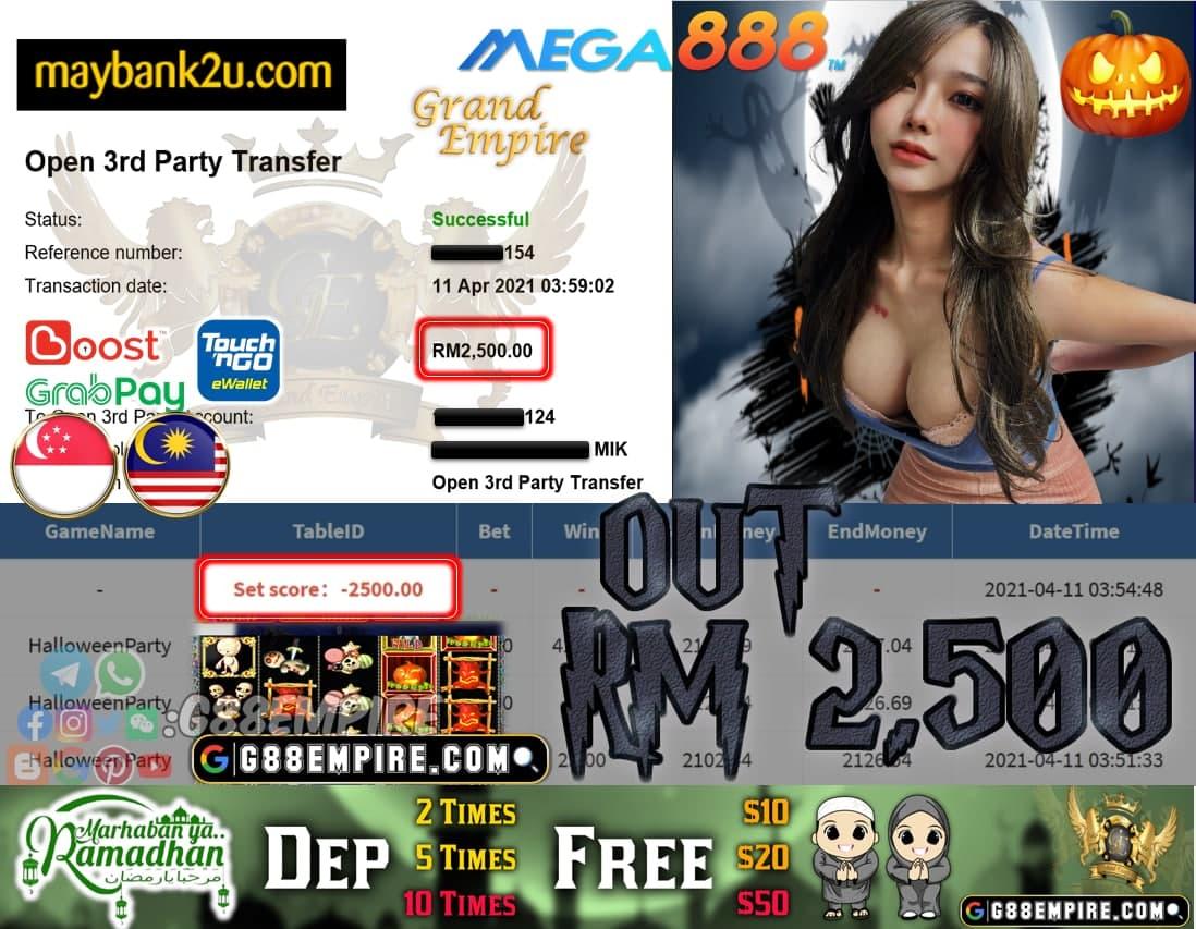 MEGA888 - HALLOWEENPARTY CUCI RM2500!!!