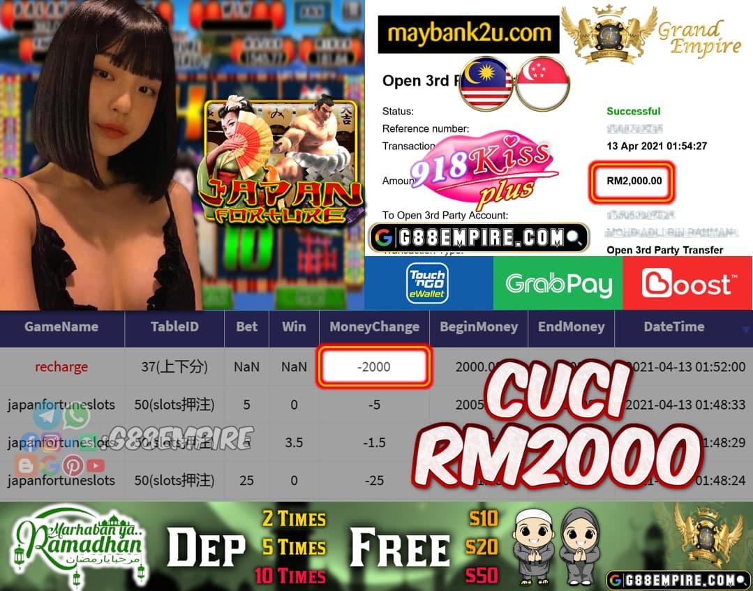KISSPLUS - JANPANSLOT CUCI RM2000!!!