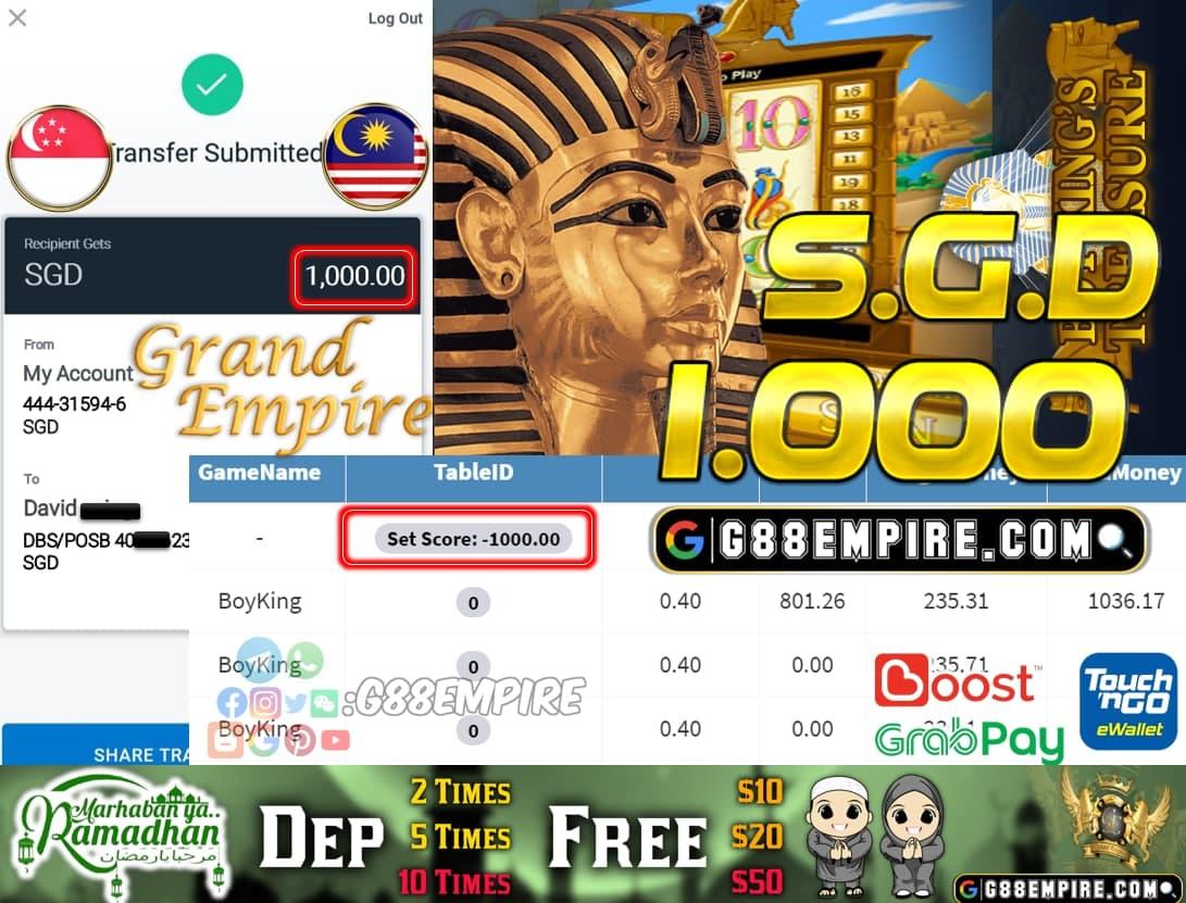 SCR888-BOYKING CUCI SGD 1.000!!!