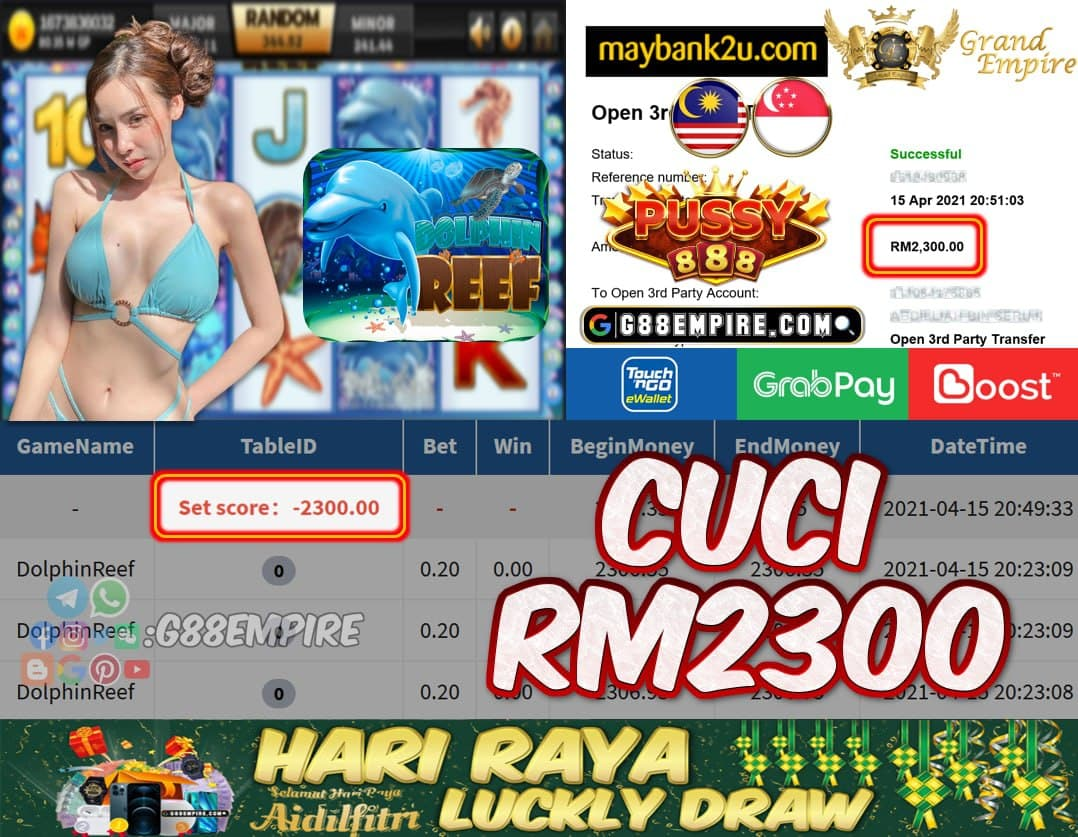 PUSSY888 - DOLPHINREEF CUCI RM2300!!!