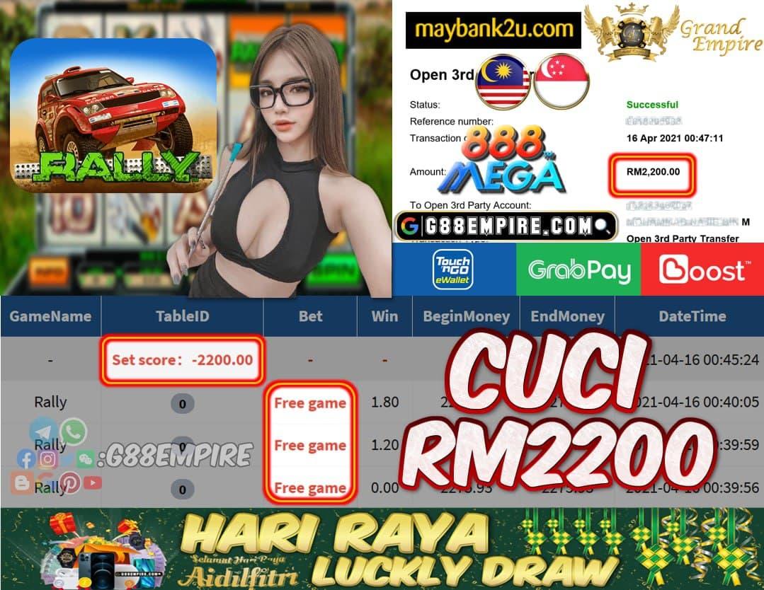 MEGA888 - RALLY CUCI RM2200 !!!