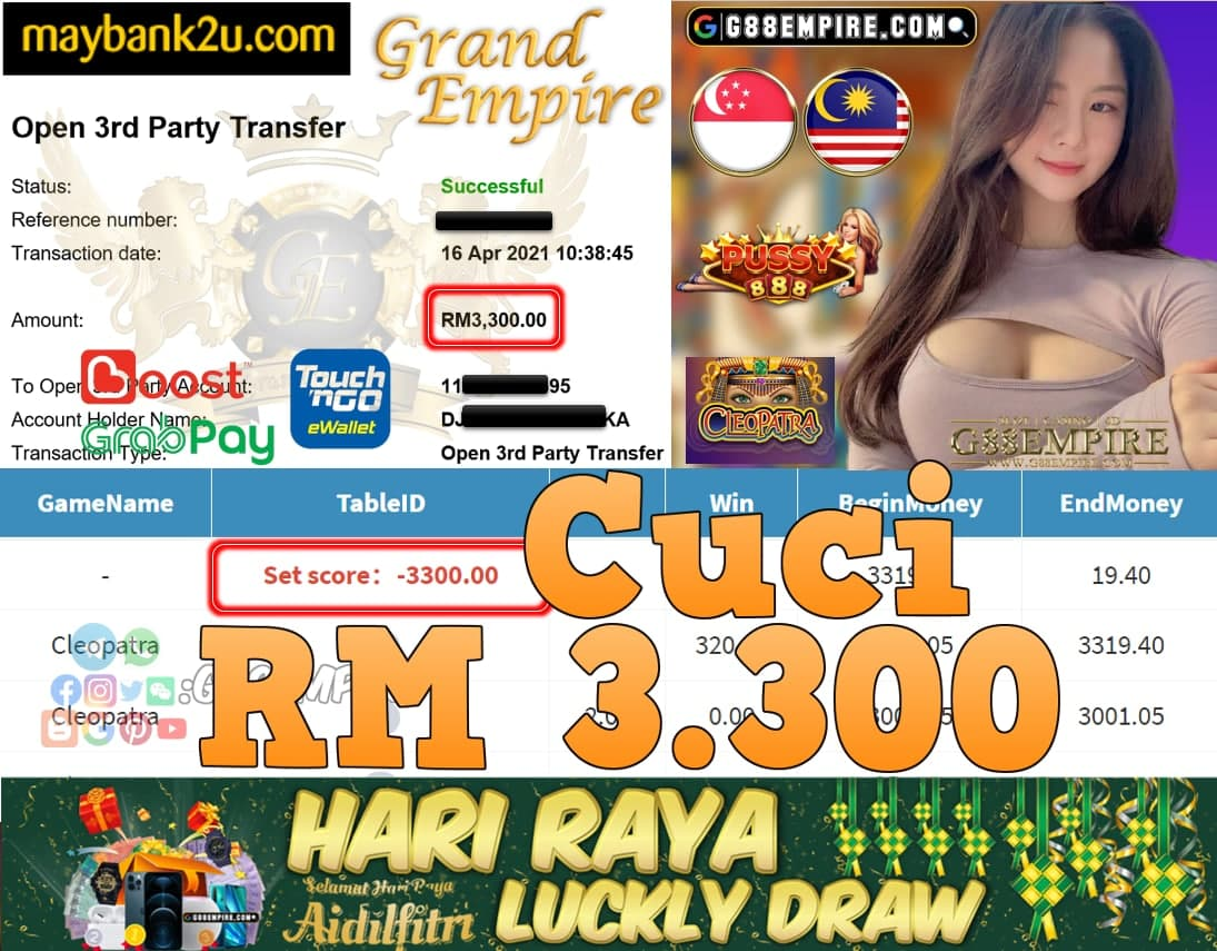 PUSSY888-CLEOPATRA CUCI RM3,300!!!