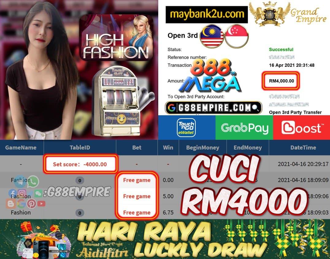 MEGA888 - FASHION CUCI RM4000!!!