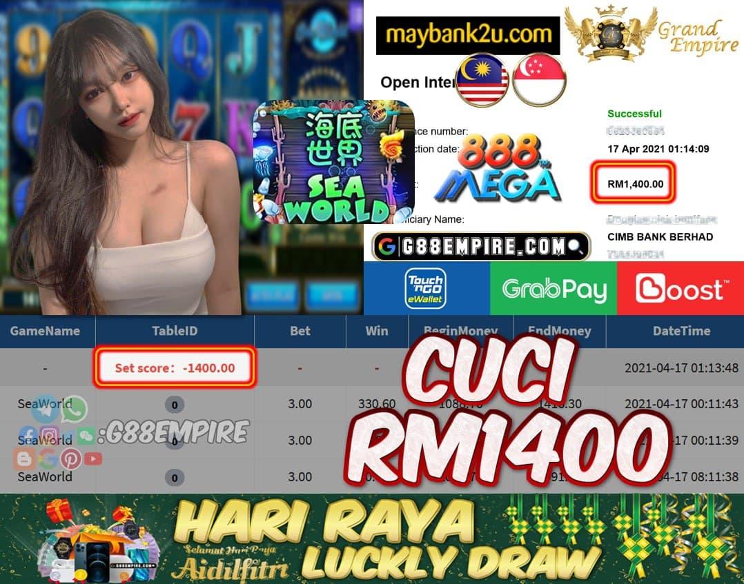 MEGA888 - SEAWORLD CUCI RM1400 !!!