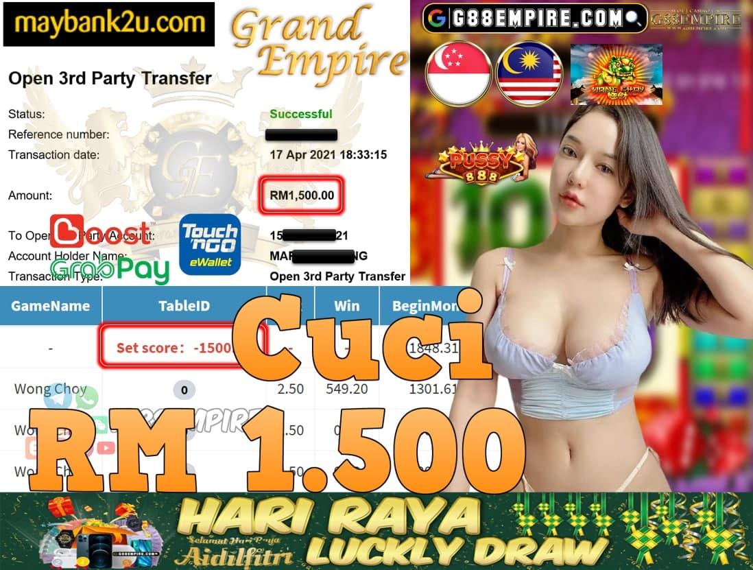 PUSSY888-WONG CHOY CUCI RM1,500!!!