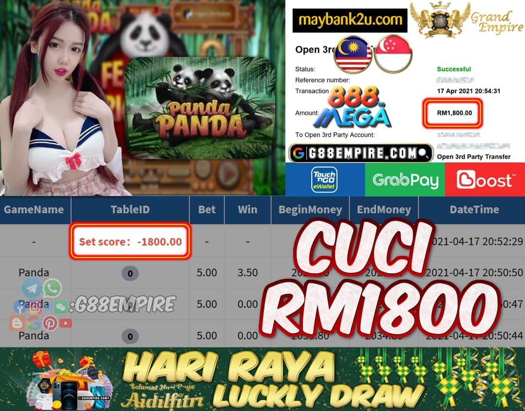 MEGA888 - PANDA CUCI RM1800!!!