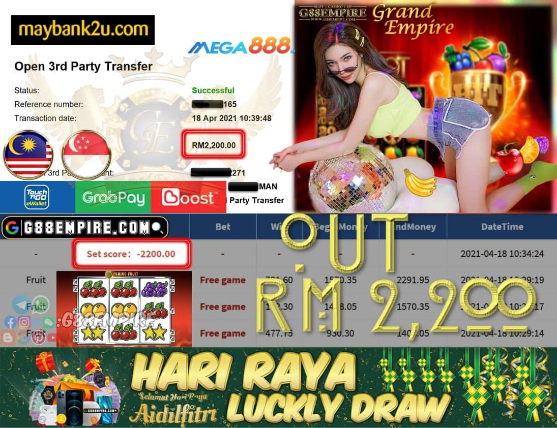 MEGA888 - FRUIT - CUCI RM2,200!!!