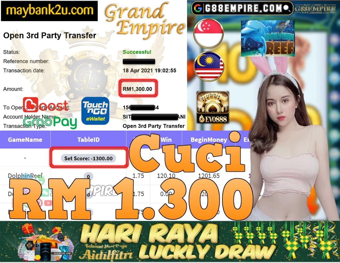 EVO888-DOLPHINREEF CUCI RM1,300!!!