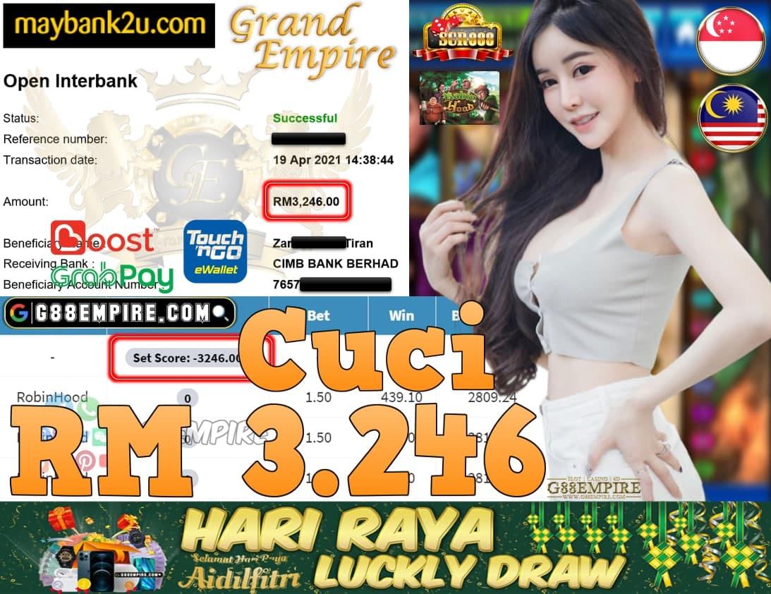 SCR888-ROBINHOOD CUCI RM3,246!!!