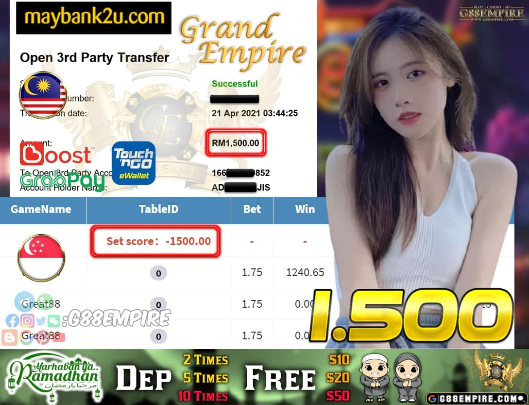 PUSSY888-GREAT88 CUCI RM 1.500!!!