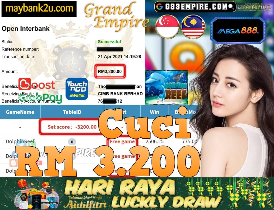MEGA888-DOLPHINREEF CUCI RM3,200!!!