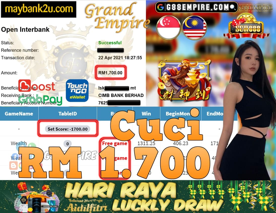 SCR888-WEALTH CUCI RM1,700!!!