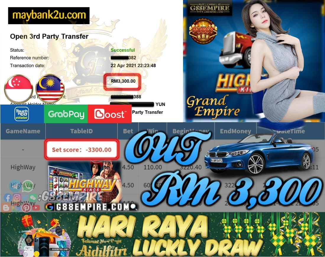 PUSSY888-HIGHWAY CUCI RM3,300!!!