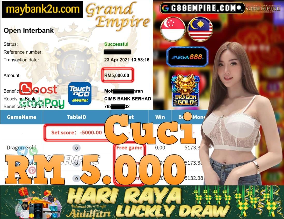 MEGA888-DRAGONGOLD CUCI RM5,000!!!