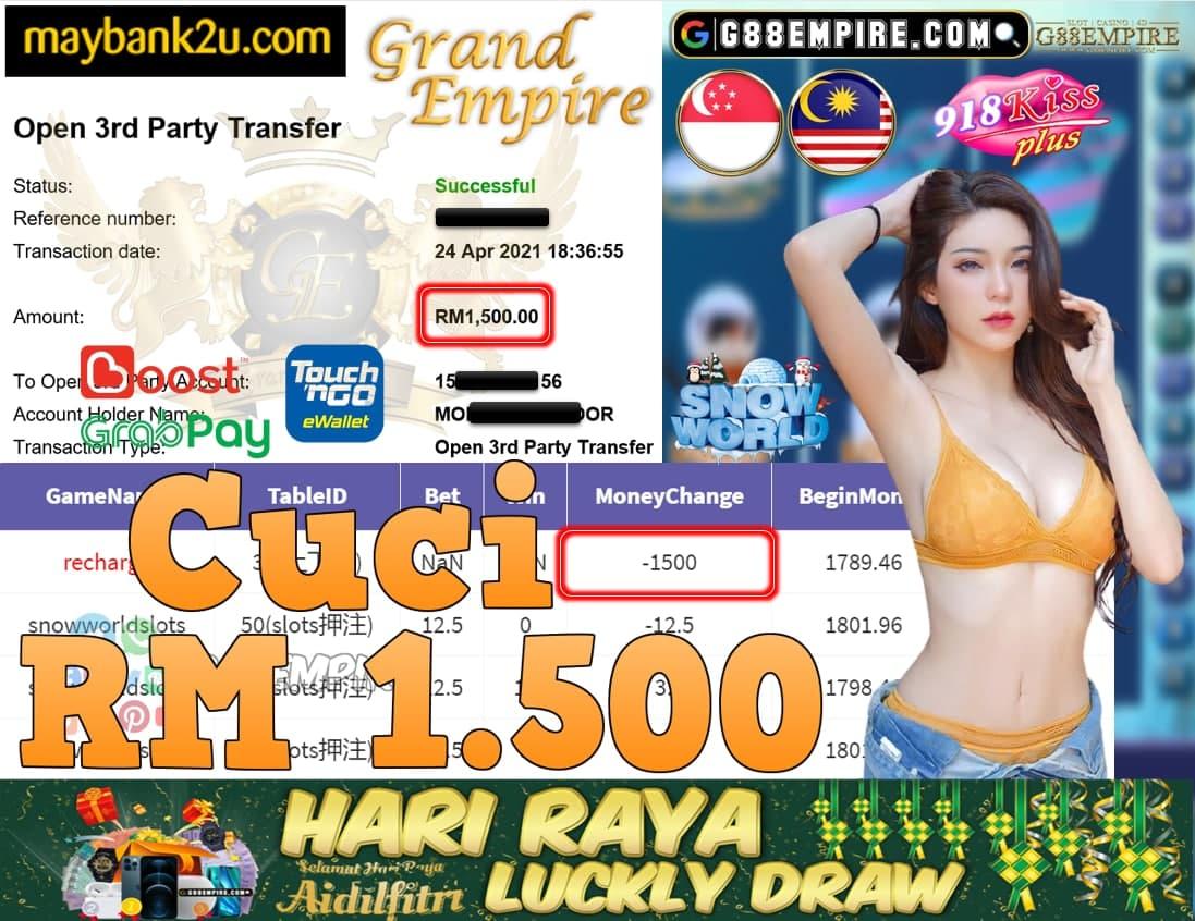 918KISSPLUS-SNOW WORLD CUCI RM1,500!!!