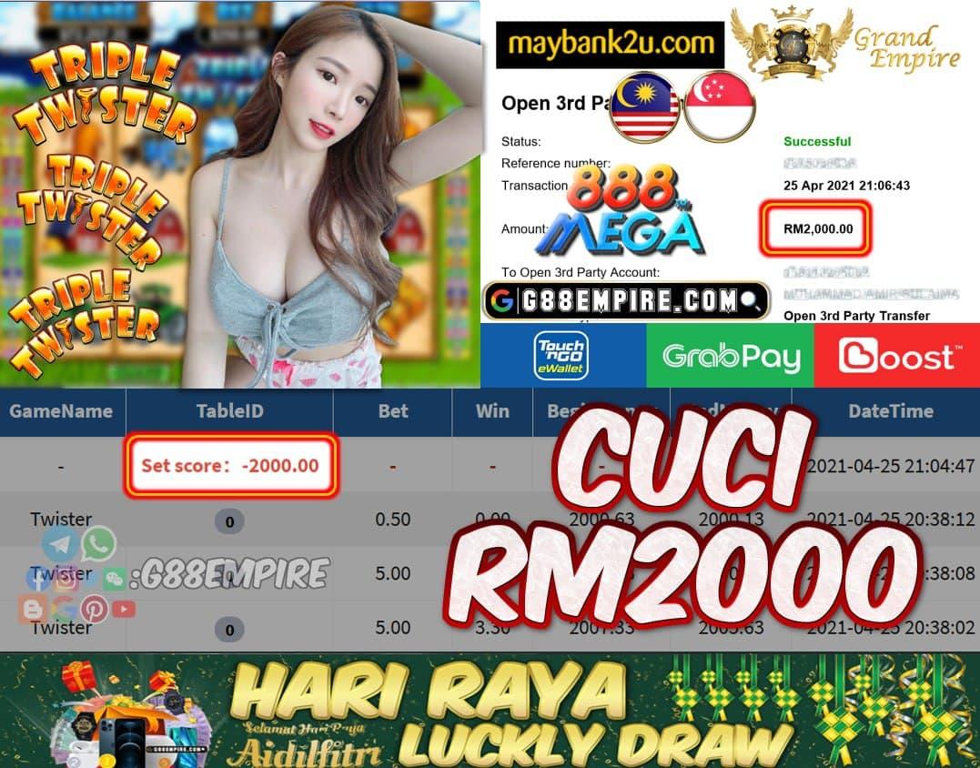 MEGA888 - TWISTER CUCI RM2000!!!