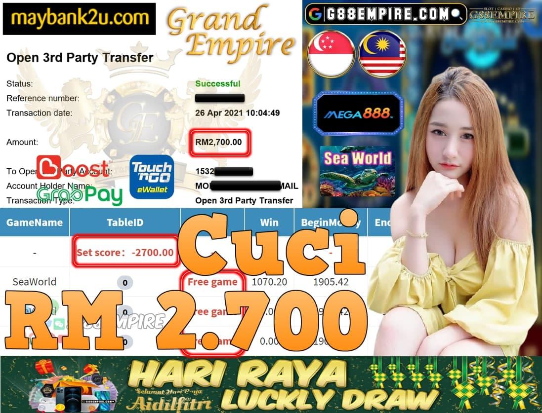 MEGA888-SEAWORLD CUCI RM2,700!!!