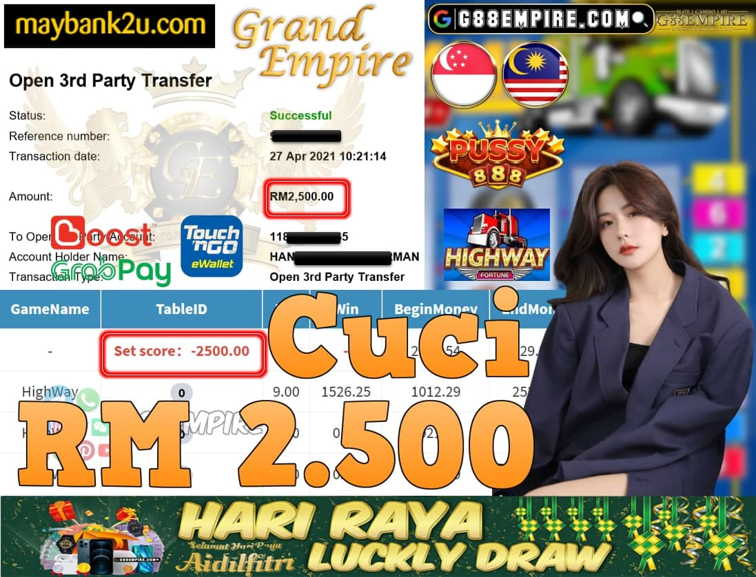 PUSSY888-HIGHWAY CUCI RM2,500!!!