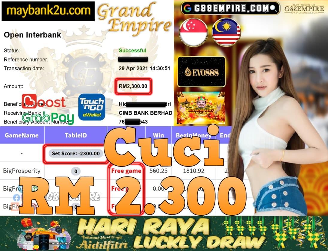 EVO888-BIGPROSPERITY CUCI RM2,300!!!