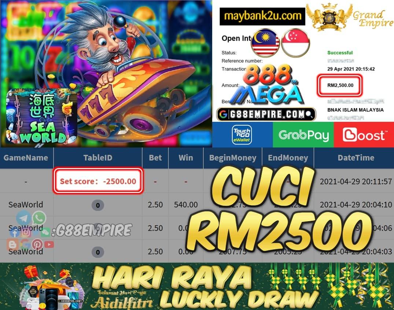 MEGA888 - SEAWORLD CUCI RM2500 !!!