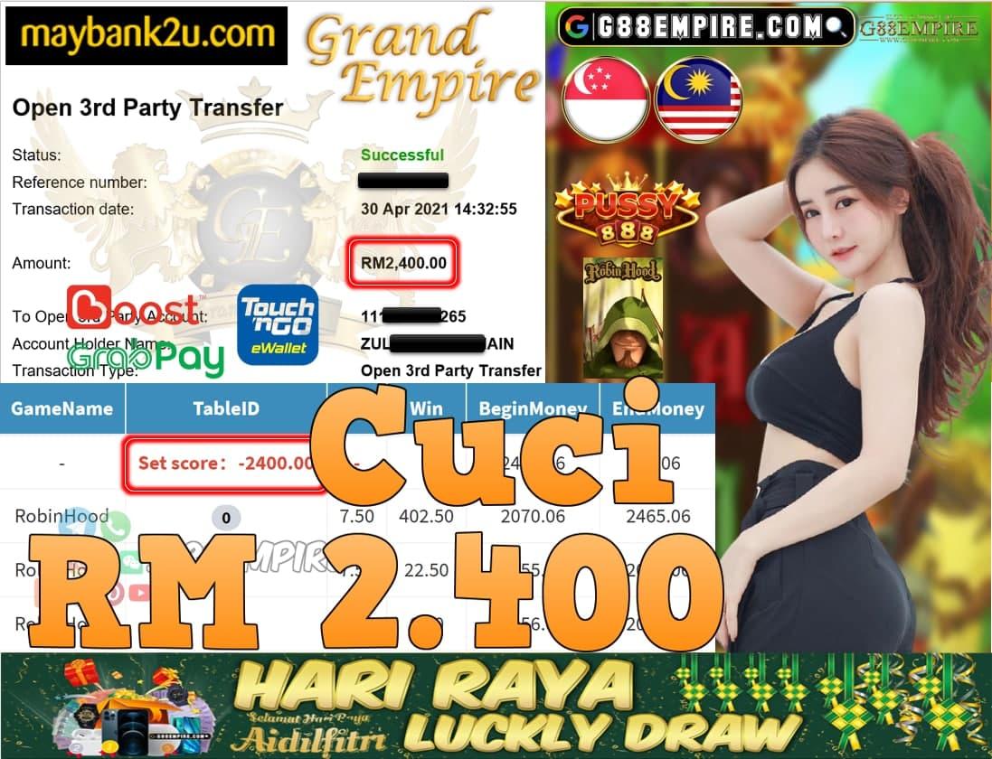PUSSY888-ROBINHOOD CUCI RM2,400!!!