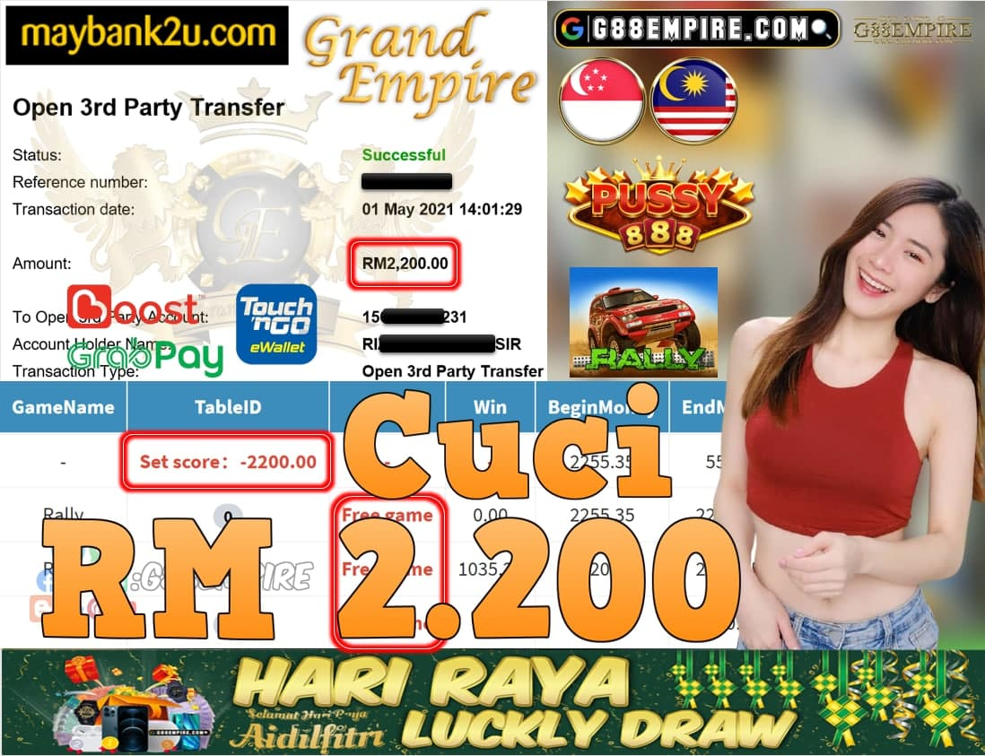 PUSSY888-RALLY CUCI RM2,200!!!