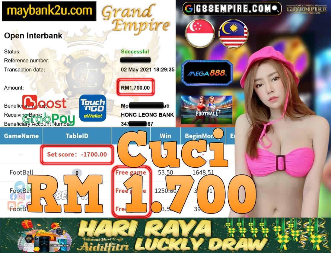 MEGA888-FOOTBALL CUCI RM1,700!!!