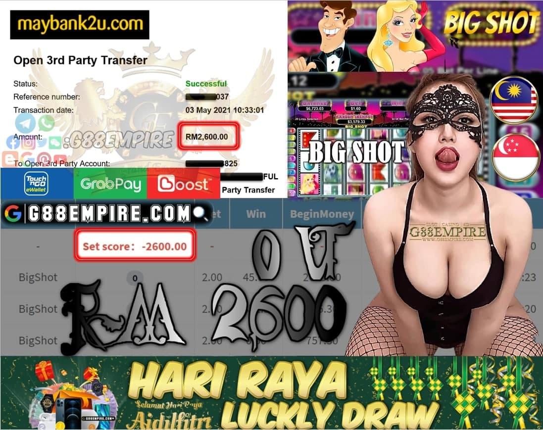 MEGA888- BIGSHOT CUCI RM2,600!!!