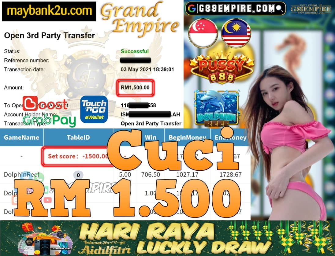 PUSSY888-DOLPHINREEF CUCI RM1,500!!!