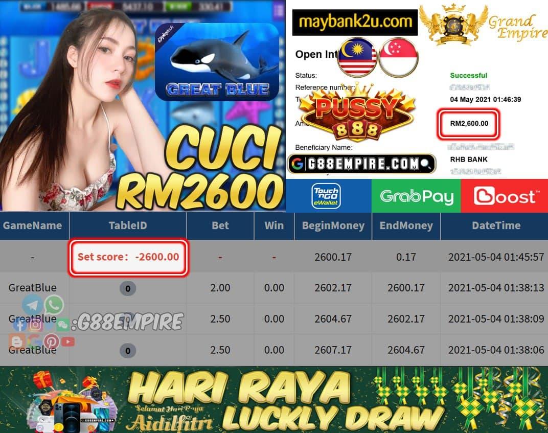 PUSSY888 - GREATBLUE CUCI RM2600 !!!
