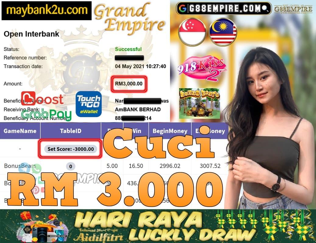 918KISS2-BONUSBEARS CUCI RM3,000!!!
