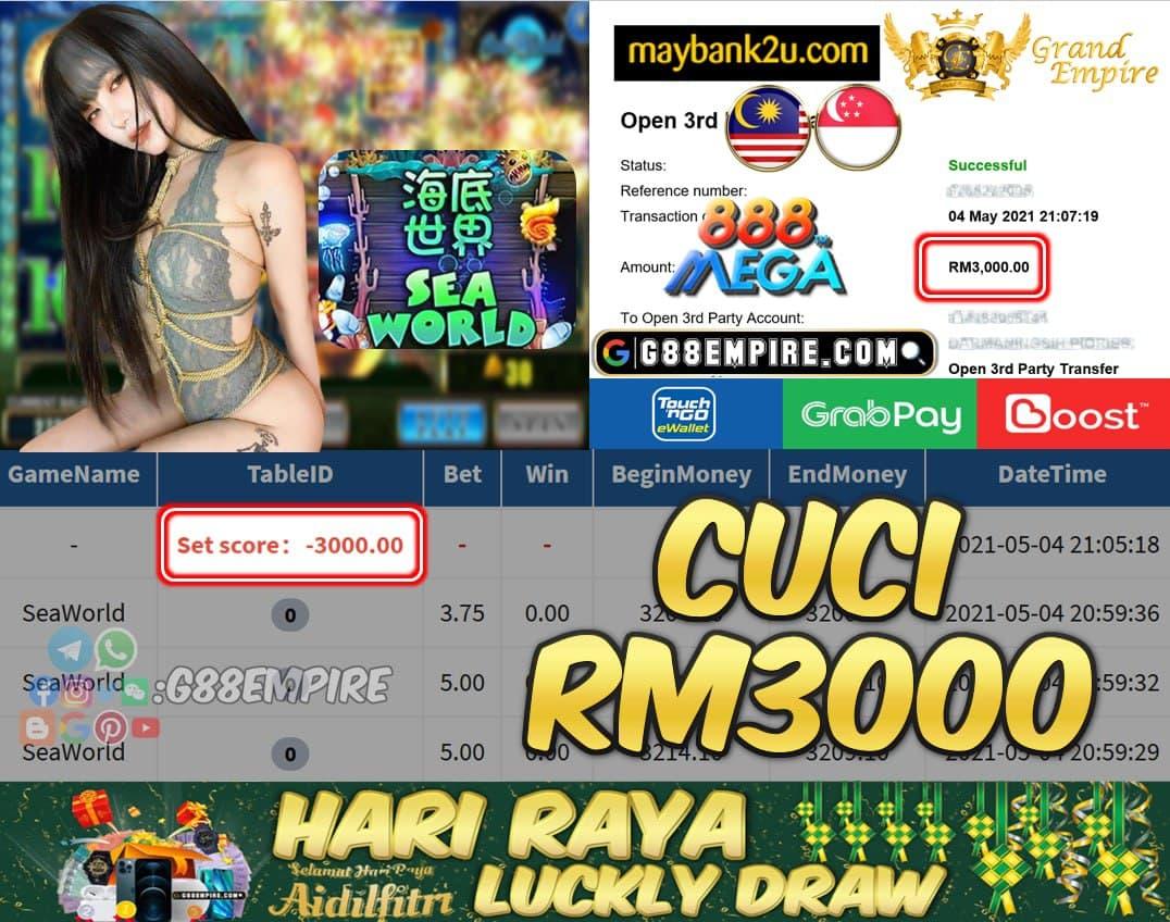 MEGA888 - SEAWORLD CUCI RM3000!!!
