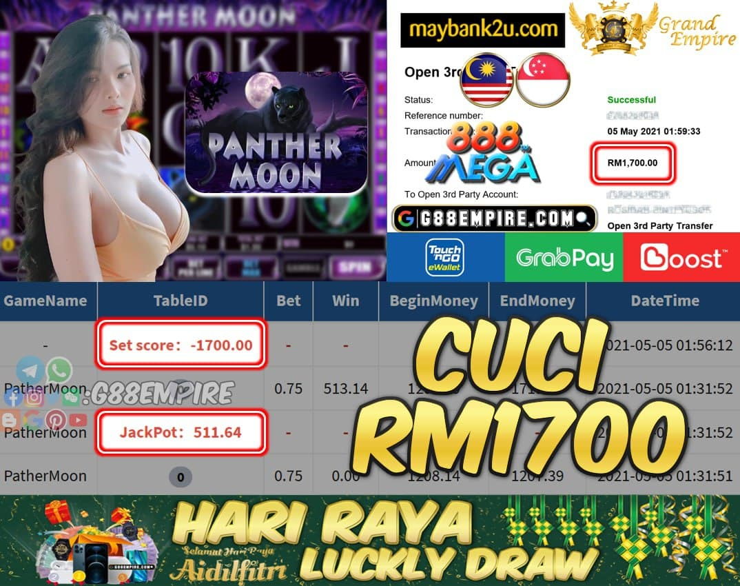 MEGA888 -  PATHERMOON CUCI RM1700 !!!