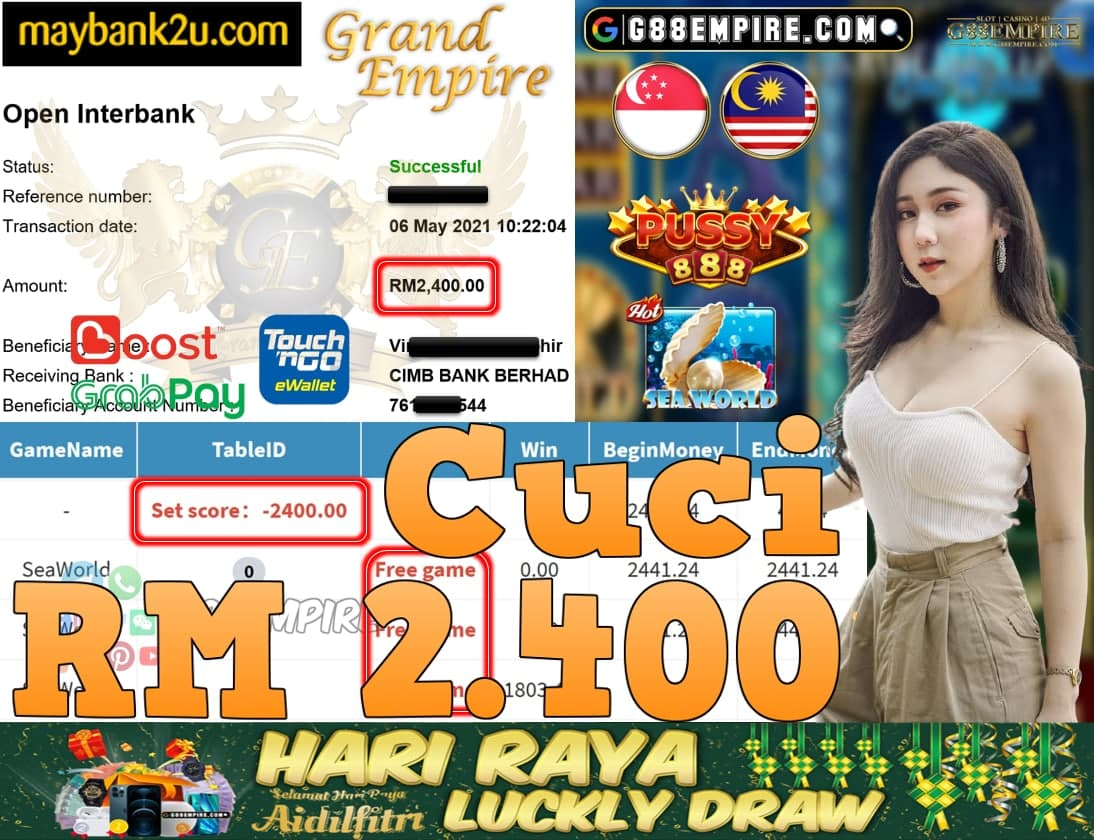 PUSSY888-SEAWORLD CUCI RM2,400!!!