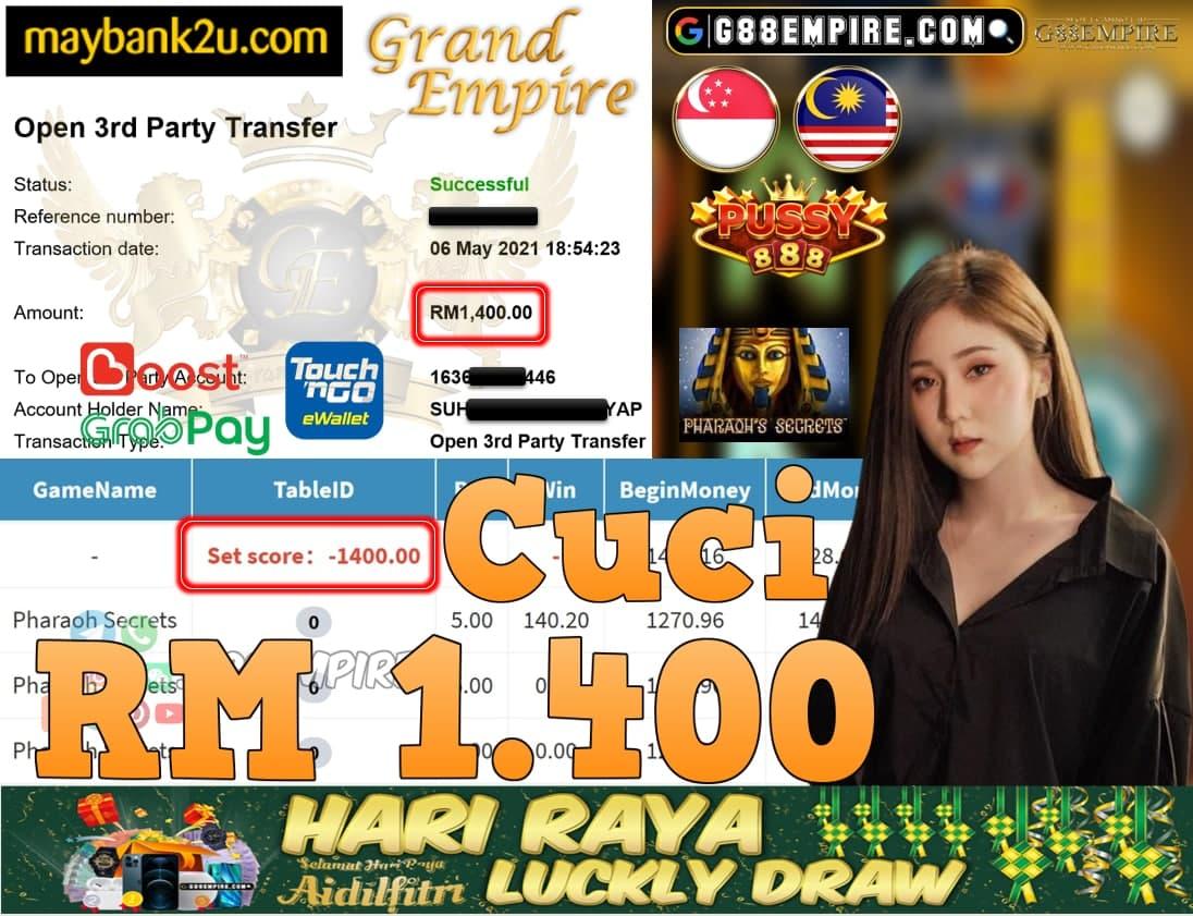PUSSY888-PHAROHSECRETS CUCI RM1,400!!!