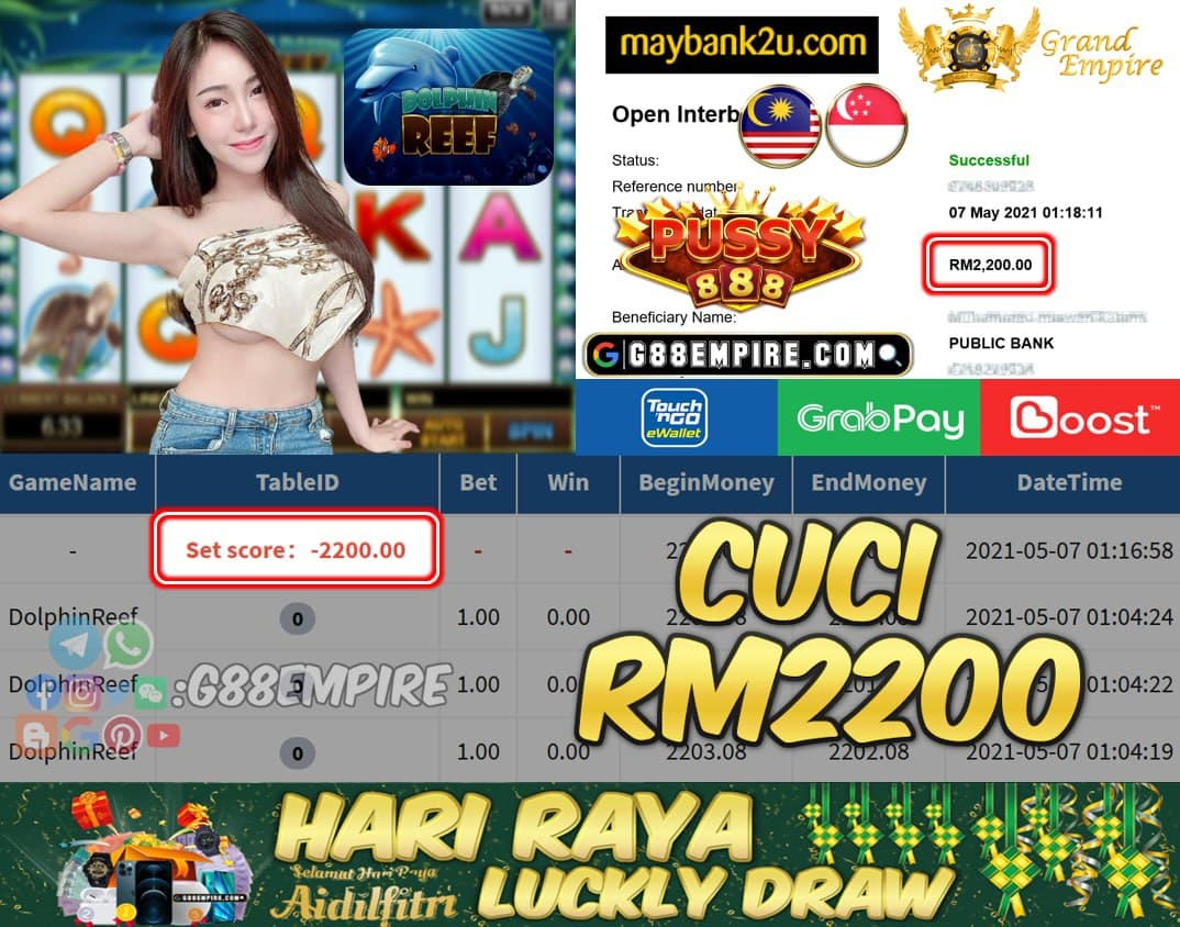PUSSY888 - DOLPHINREEF CUCI RM2200 !!!