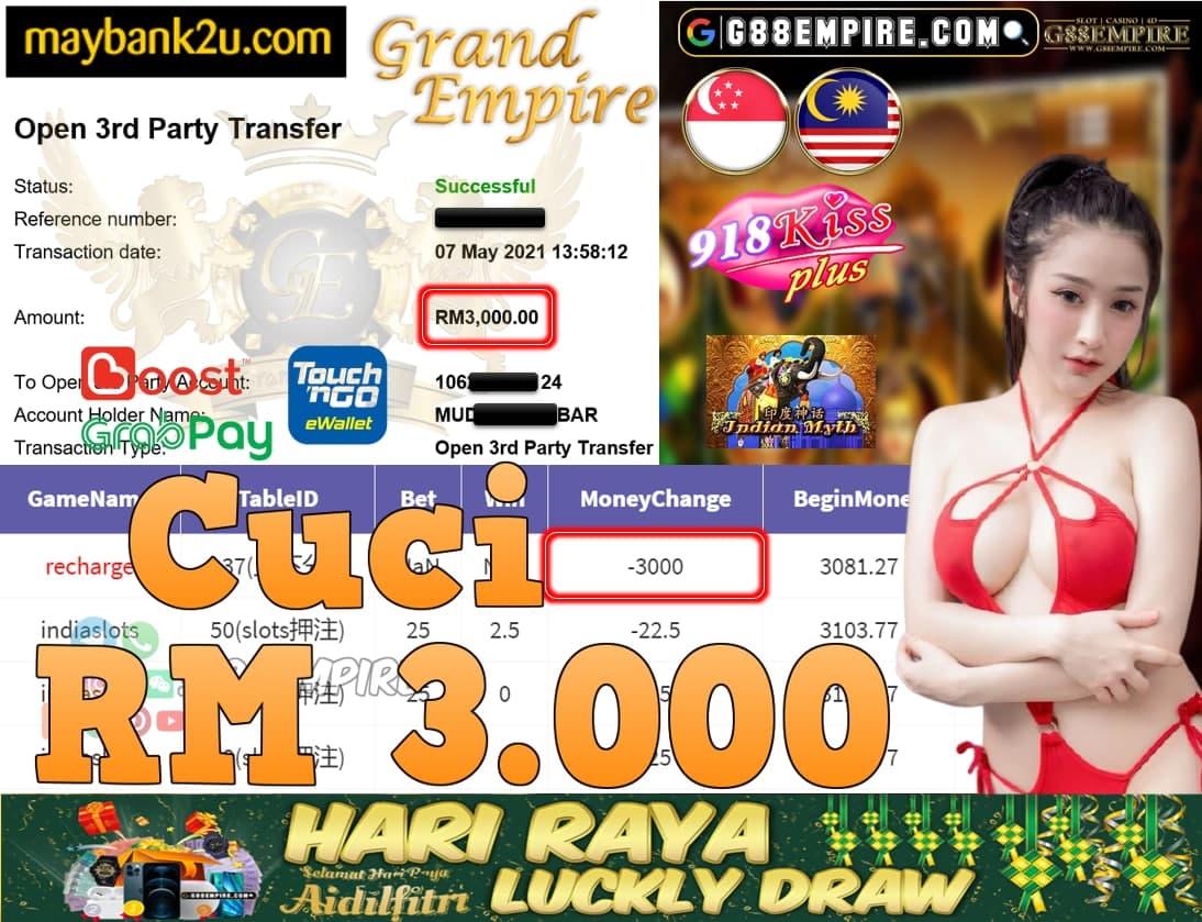 918KISSPLUS-INDIASLOTS CUCI RM3,000!!!
