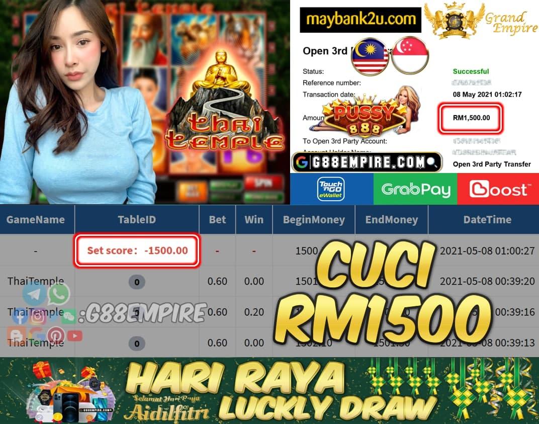 PUSSY888 - THAITEMPLE CUCI RM1500 !!!