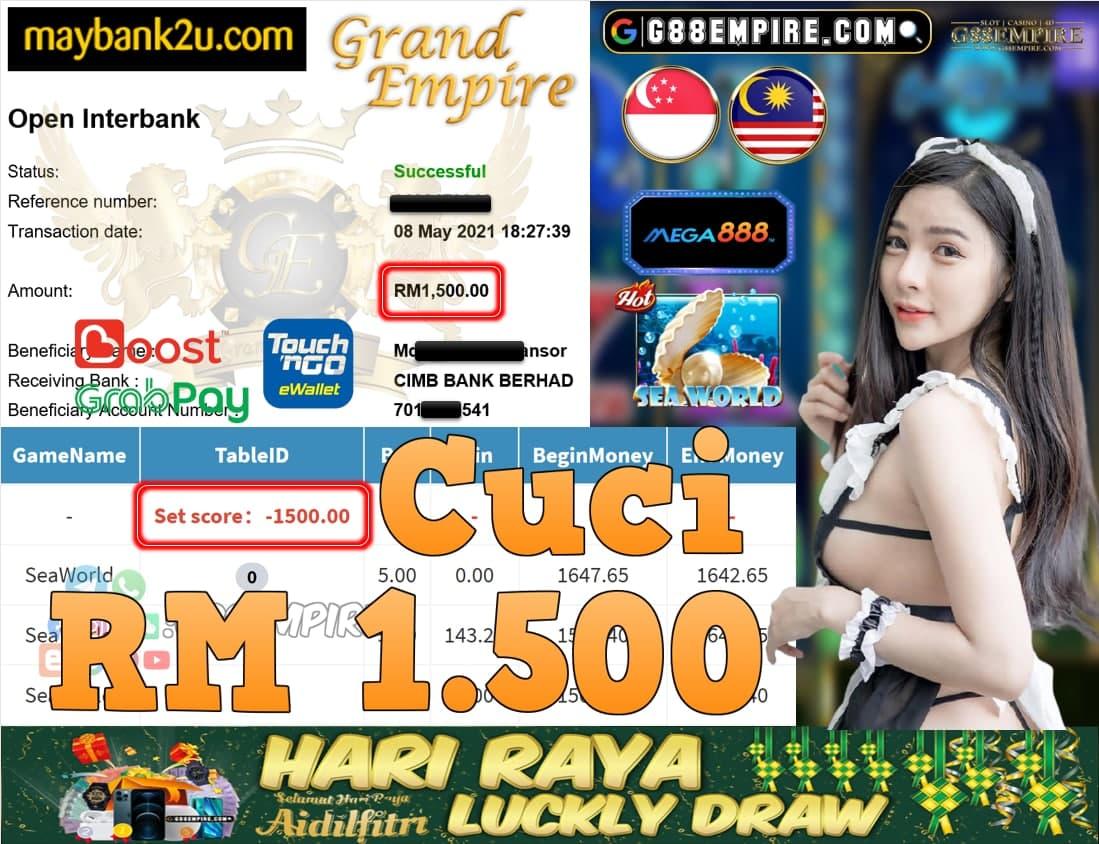 MEGA888-SEAWORLD CUCI RM1,500!!!