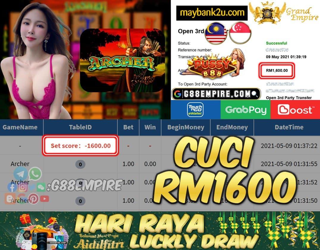 PUSSY888 - ARCHER CUCI RM1600 !!!