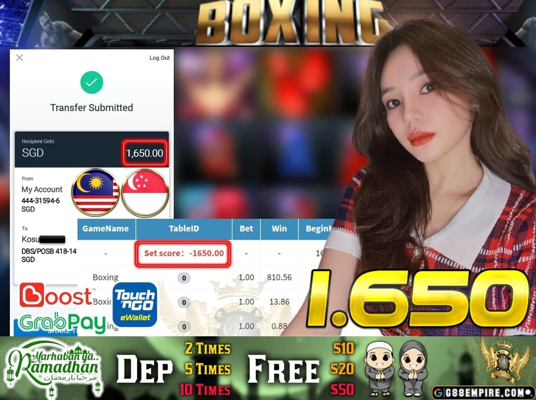 PUSSY888 - BOXING CASH OUT $1.650!!!