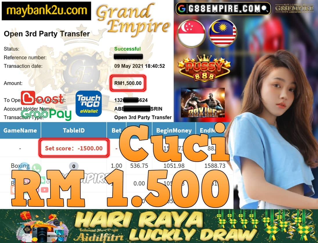 PUSSY888-BOXING CUCI RM1,500!!!