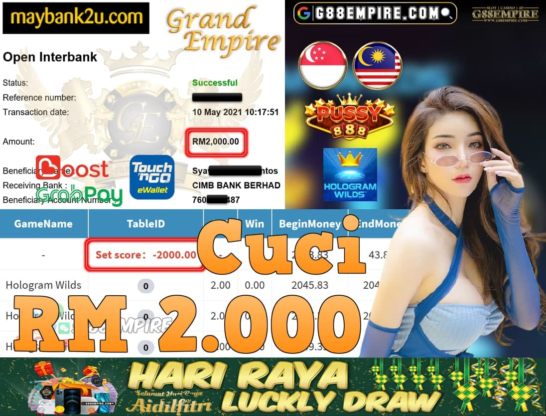 PUSSY888-HOLOGRAMWILDS CUCI RM2,000!!!