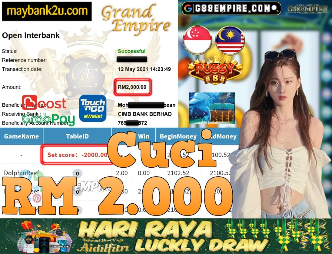 PUSSY888-DOLPHINREEF CUCI RM2,000!!!